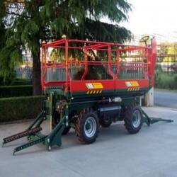 Plataforma de cosecha para pomaceas y citricos pulcinelli...