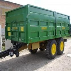 Carro agricola tandem de 15,8m3 con volteo posterior hidrá...