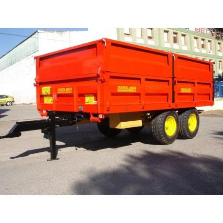Carro agricola 8000 kg tandem con volteo posterior hidraulico