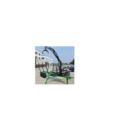 Carro forestal con grua pluma 300kg-4m catango coloso para tractor agricola