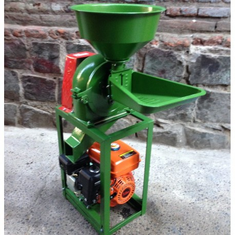 Molino de pines harina gasolina 5.5hp malla 0.8 y 2mm bencinero trigo  bencinero trituradora chancador