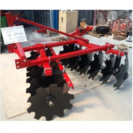Rastra mediana 1.4m 12x22 pulgada discos ref 900 con rodamiento para tractor agricola