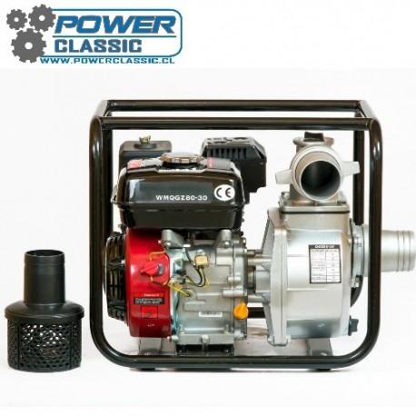Motobomba gasolina 6.5 hp 3 pulgada 80-30 riego bencinera agua