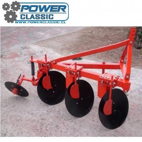 Arado de discos 3x20 pulgada levante para tractor agricola