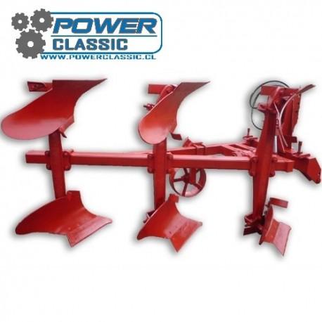Arado de vertedera reversible hidraulica 3x30cm (L) vertedera de 45cm para tractor agricola