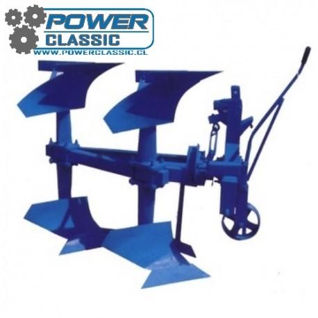 Arado de vertedera reversible manual 2x30cm vertedera de 45cm para tractor agricola