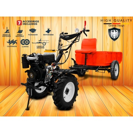 Motocultivador Diesel Kit 7en1