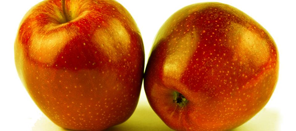 China: crearon una nueva fruta mitad manzana mitad caqui